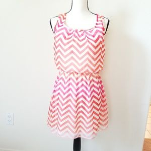 Speechless Women's Chevron Pink Stripes